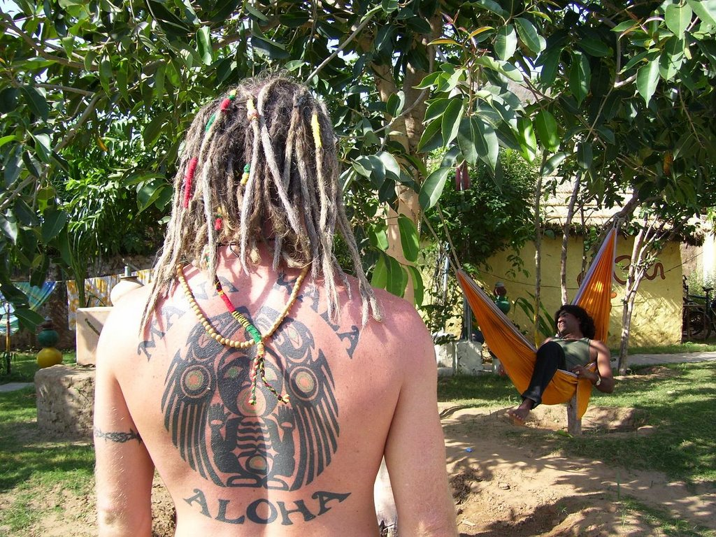 Surfer With Dreads